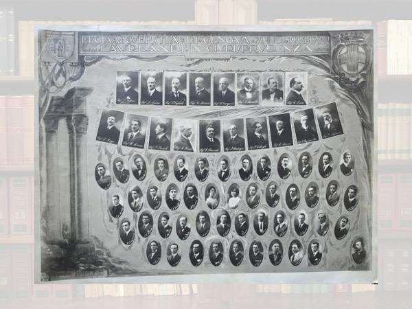 I laureati in Giurisprudenza (anno 1921-22)